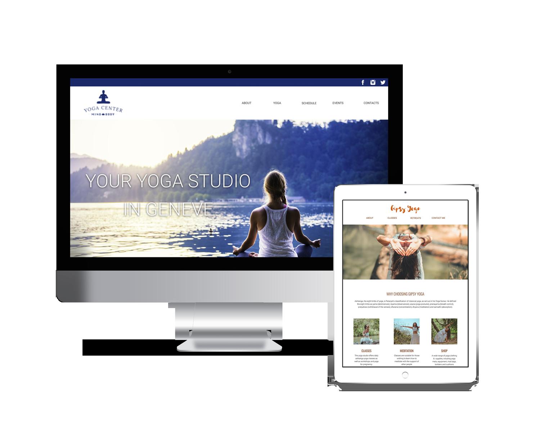 Website design for yoga teachers